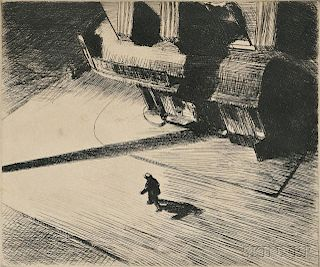 Edward Hopper (American, 1882-1967)      Night Shadow