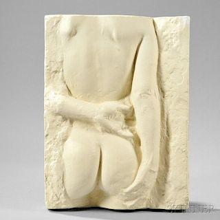 George Segal (American, 1924-2000)      Gazing Woman