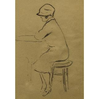 Attr. Edward Hopper  (1882 - 1967) Pencil/Paper