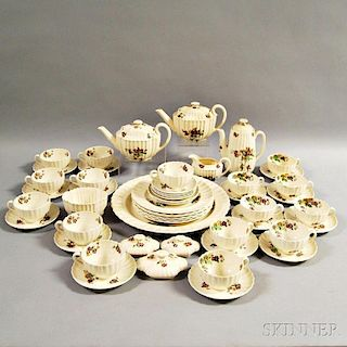 "Approximately Fifty Pieces of Copeland Spode ""Wicker Lane"" Dinnerware."