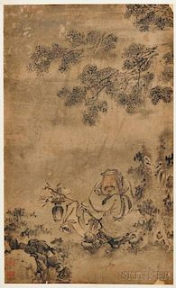Landscape Depicting a Scholar by a Rock