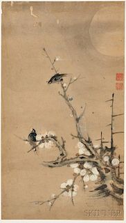 Two Birds on a Plum Tree