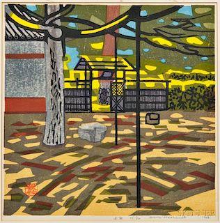 Okie Hashimoto (1899-1993) Woodblock Print