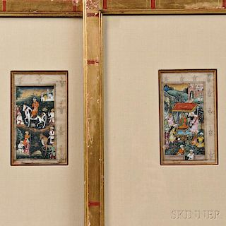 Two Mughal Miniature Paintings