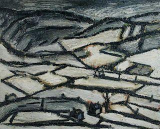 "§ Peter Prendergast (Welsh, 1946-2007) Snowdonia landscape signed on the reverse ""P Prendergast"" oil"