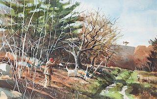 Chet Reneson (b. 1934) Grouse Hunting