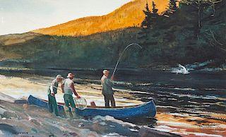 Chet Reneson (b. 1934) Salmon Fishing