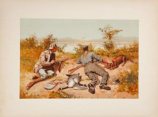 Six Sporting Prints by Various Artists Sport, or Fishing and Shooting