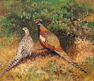 Lynn Bogue Hunt (1878-1960) Pheasant Pair