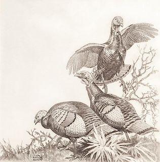 Lynn Bogue Hunt (1878-1960) Turkeys