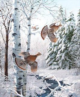 David A. Maass (b. 1929) Winter Wonder Ruffed Grouse