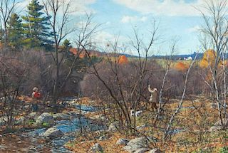 Aiden Lassell Ripley (1896-1969) Woodcock by the Brook