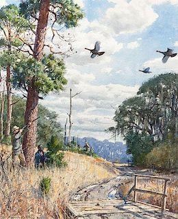 Aiden Lassell Ripley (1896-1969) Driven Turkeys
