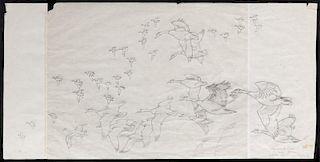Owen Gromme (1896-1991) Tamarack Lake - Canada Geese