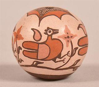 Fine Acoma Pueblo Contemporary miniature Pottery Seed Jar.