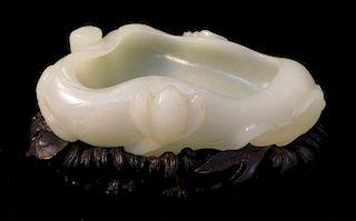 White Jade Brush Pot