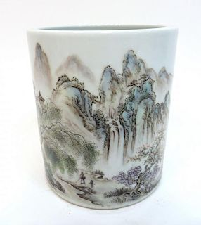 Republic Era Porcelain Brush Pot