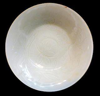 """Ding"" Ware White Glaze Bowl."