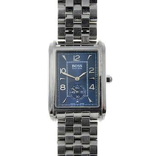 HUGO BOSS - a gentleman's bracelet watch. Stainless steel case. Reference 1100, serial 50045. Unsign