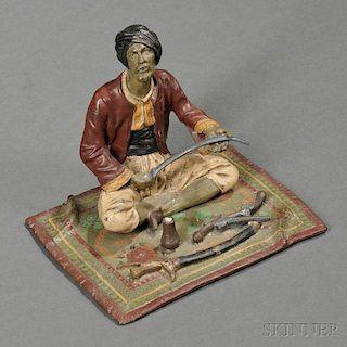 Franz Bergman Austrian Cold-painted Bronze Figure of an Arab Weapons Merchant