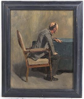 Artist Unknown, (19th/20th century), A Man Seated in a Chair