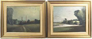 Style of John Hammond, (19th century), Landscapes (a pair of works)