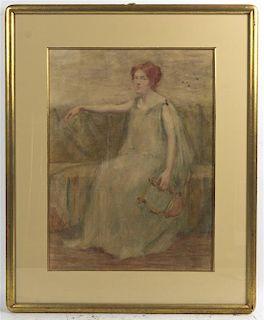 Martha Susan Baker, (American, 1871-1911), Erato, Muse of Lyrical Poetry
