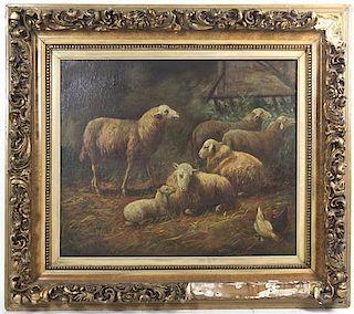 Artist Unknown, (19th century), Sheep Fold, 1863