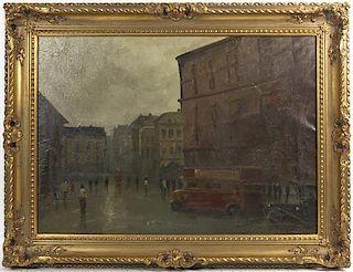 Anton Rudolf Mauve, (Dutch, 1876-1962), London Street Scene