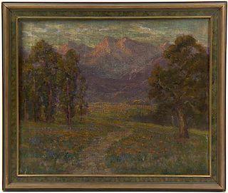 Frederick Carl Smith, (American, 1868-1955), Mountainous Landscape