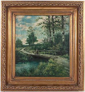 Artist Unknown, (19th century), Crossing the Bridge