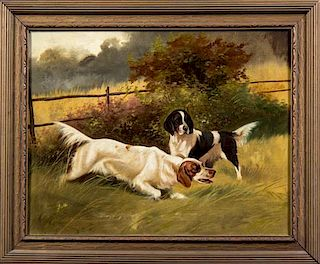 Artist Unknown, (20th century), Two Dogs