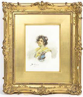 S. Coris, (20th century), Portrait of a Lady