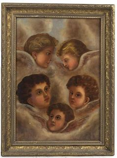 Artist Unknown, (19th century), Putti in the Clouds