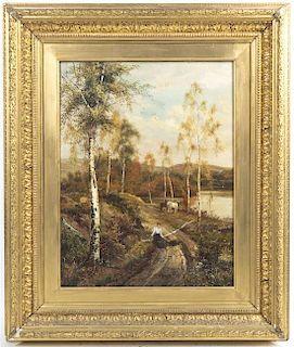 Theodore Hines, (British, 19th century), Near Loch Katrine, 1887