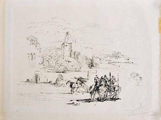 Salvador Dali 'Road to Ampurdam' Lithograph, Signed Artist Proof