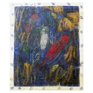 Large Hunt Slonem Bird Painting, Original Work