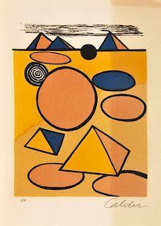 Alexander Calder 'Pyramids' Lithograph, Signed Artist Proof