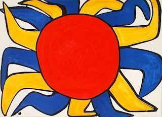 Alexander Calder 'Sun' Lithograph, Signed Artist Proof