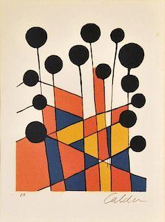 Alexander Calder 'Balloons' Lithograph, Signed Artist Proof