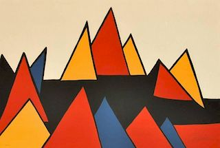 Alexander Calder 'Mountain Peaks' Lithograph, Signed Edition