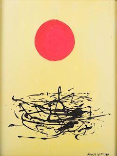 "Adolph Gottlieb Acrylic on Board ""Composition"""