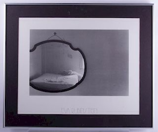 "Eva Rubinstein ""Bed In Mirror"" Framed Print"