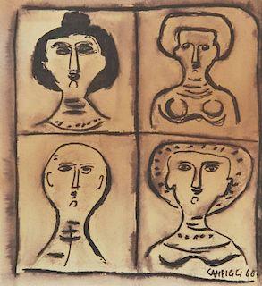 Massimo Campigli 'Le Quattro Donne', Original Work
