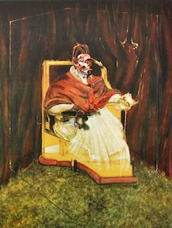 Francis Bacon 'Portrait Pope Innocent XII' Poster