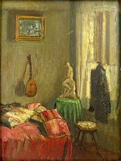after: Edouard Vuillard, French (1868-1940) Double Sided Oil on panel.