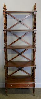 Vintage Custom Quality What-Not Shelf Etagere.