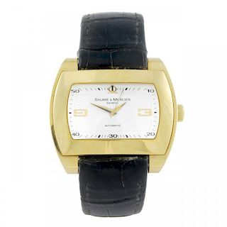BAUME & MERCIER - a gentleman's Hampton City wrist watch. 18ct yellow gold case. Numbered 65408 3558