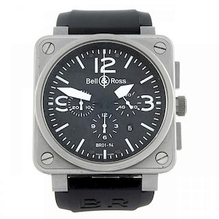 CURRENT MODEL: BELL & ROSS - a gentleman's Type Aviation chronograph wrist watch. Stainless steel ca