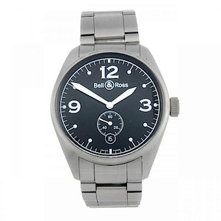 BELL & ROSS - a gentleman's Vintage 123 bracelet watch. Stainless steel case with exhibition case ba